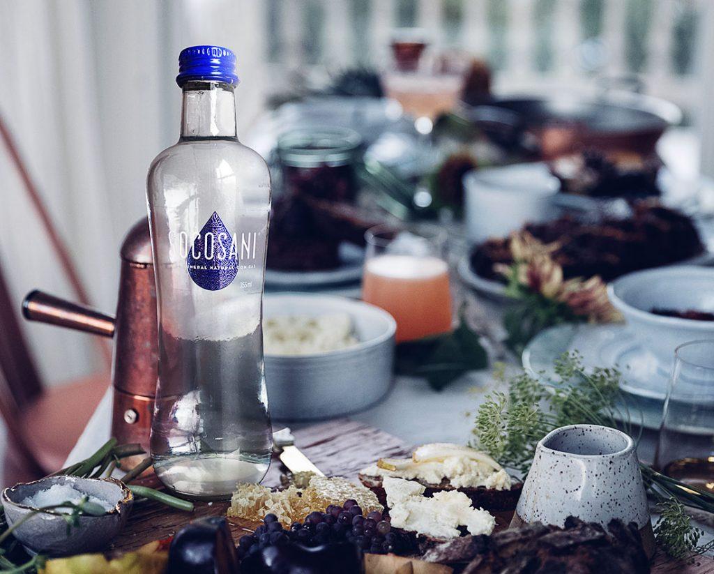 El agua mineral Socosani acompaña las comidas